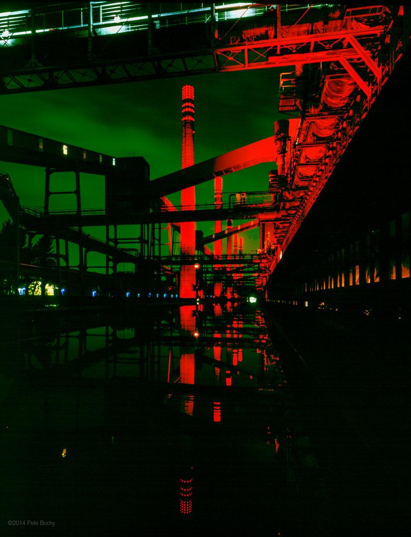 2000 05 Zollverein Kokerei bei Nacht