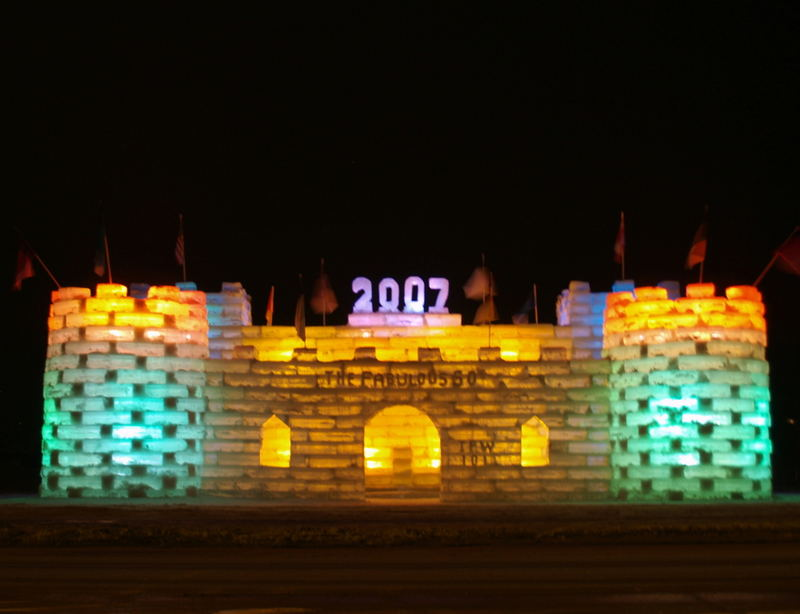 2007 Saranac Lake Winter Carnival Ice Palace