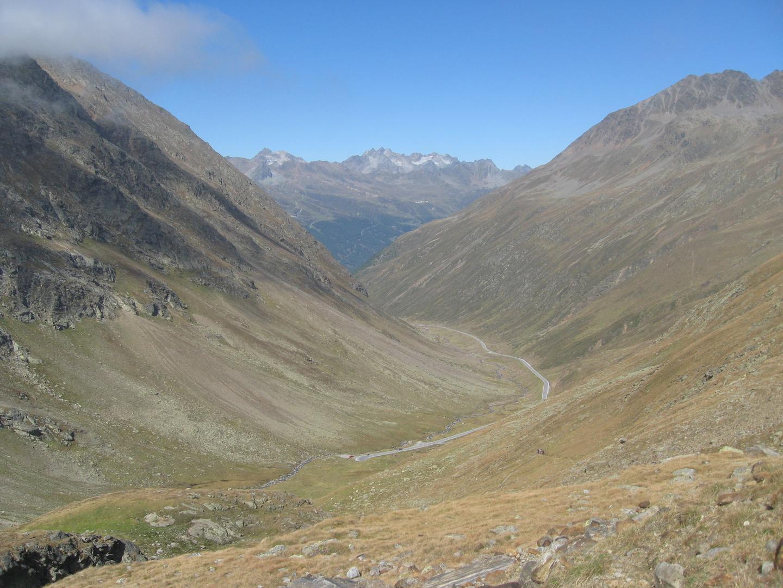 2011 Timmelsjoch Ötztal in Blickrichtung Österreich auf ca. 2700m