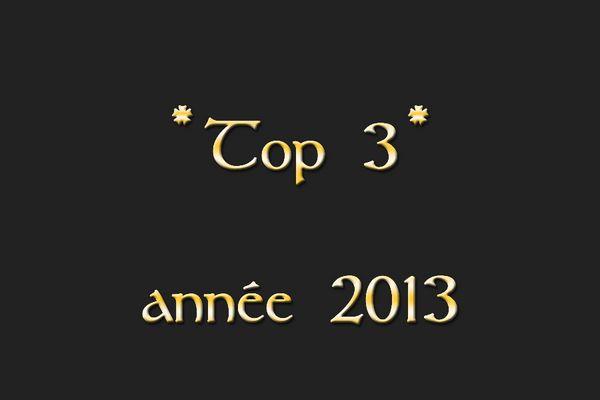 2013 - mon top 3