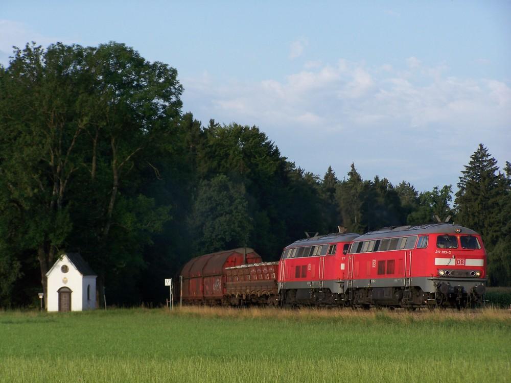 217 013 auf dem Weg nach Burghausen