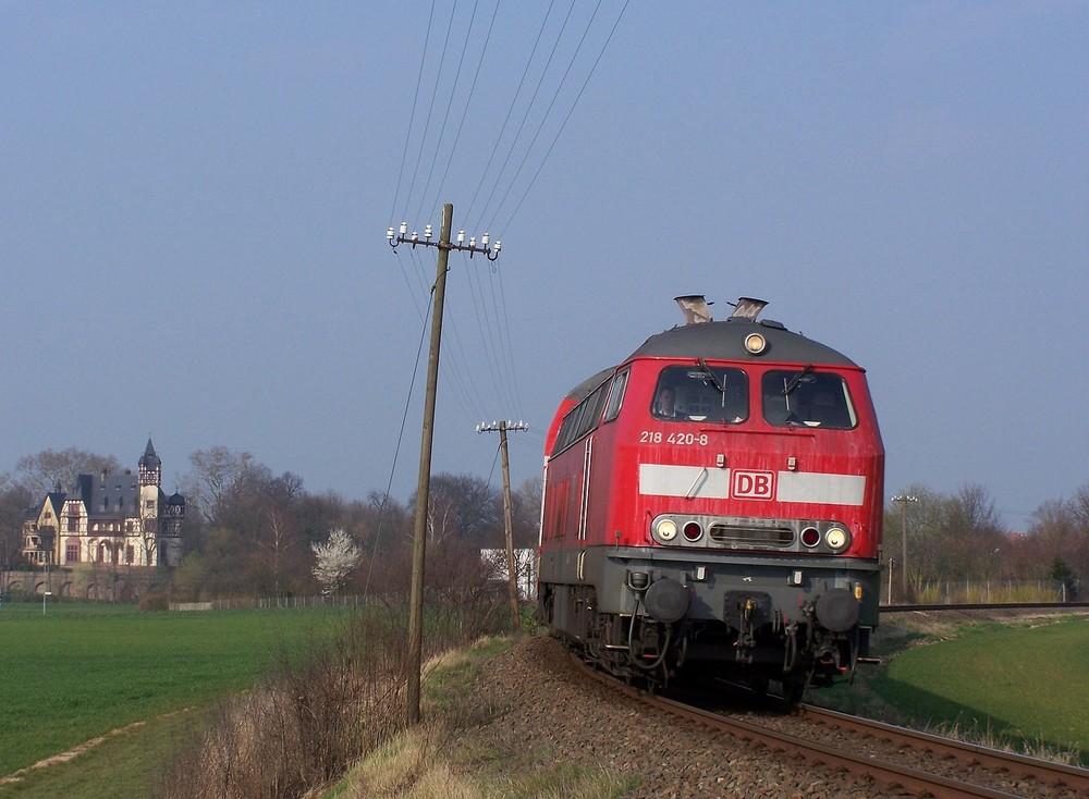 218 420 auf dem Weg nach FRankfurt
