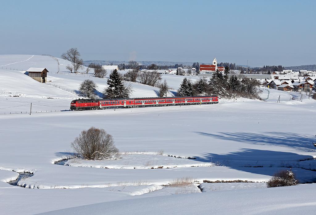218er im winterlichen Allgäu