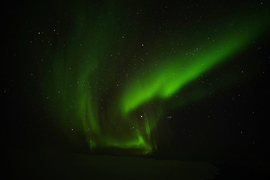 23.19 Uhr zum Tagesende - Unterwegs zum Nordkapp im Winter -