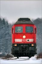 233 151-0 auf dem Weg vom Kraftwerk Zolling zum Bahnhof Langenbach