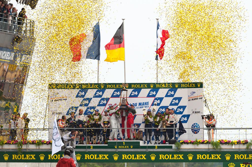 24h du Mans 2011 - Siegerehrung LMP1