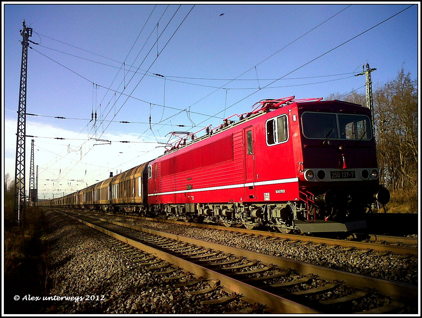 250 137 mit einen ansehnlichen Zug heute morgen unterwegs