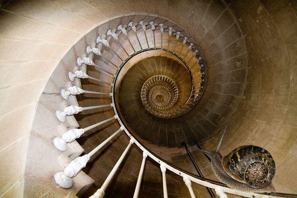 """257 Stufen … im Innern des """" Phare des Baleines """""""