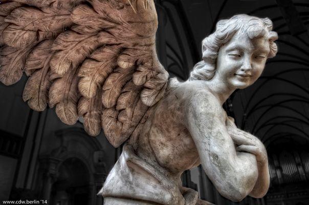 2.cherub aus der engelgruppe des ehemaligen altars der nikolaikirche
