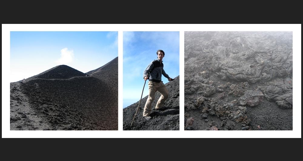 3-Bild-Doku einer Vulkanbesteigung