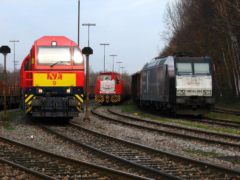 3 der modernsten Lokomotiven nebeneinander