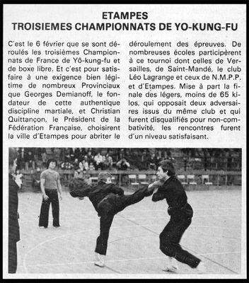 3 ème championnat de Yô Kung Fu