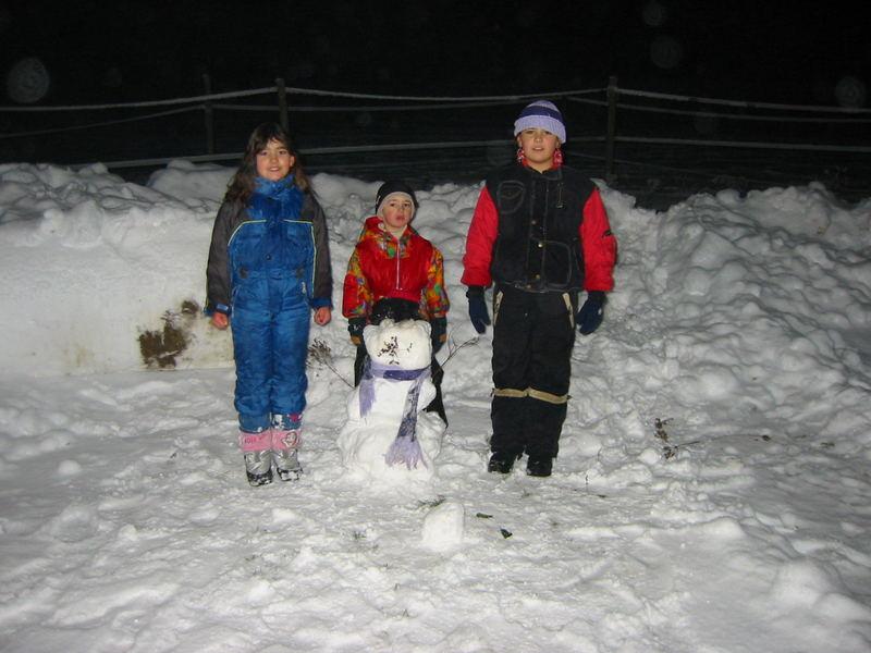 3 im Schnee 24.12.2005