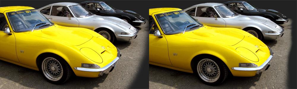 3 mal Opel GT