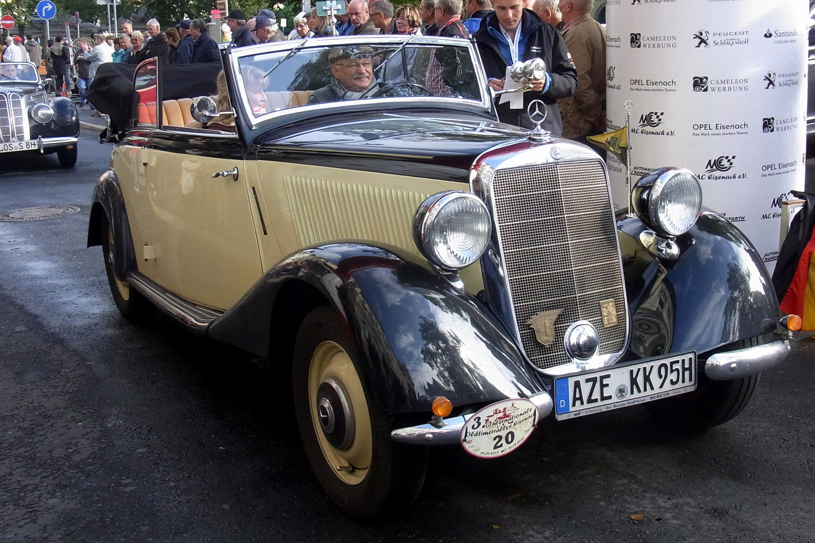 3. Oldtimer-Rallye 2013 in Eisenach - Mercedes Cabrio