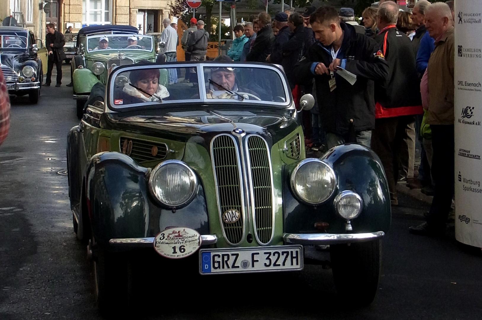 3. Oldtimer-Rallye in Eisenach 2013 - BMW 327