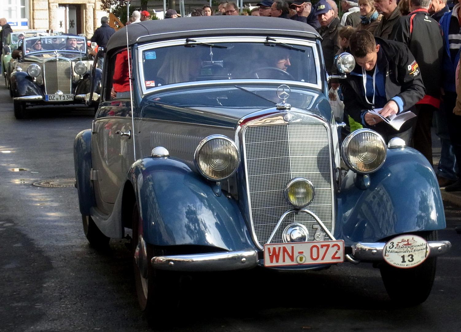 3. Oldtimer-Rallye in Eisenach 2013 - Startnummer 13
