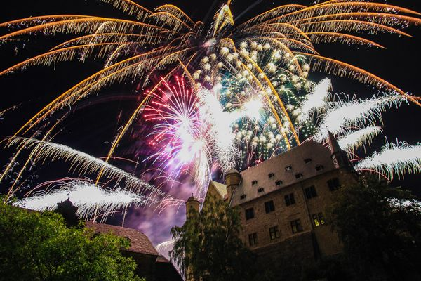 3 Tage Marburg, Feuerwerk am Schloss