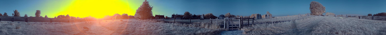 360° Avebury Sunset in InfraRed