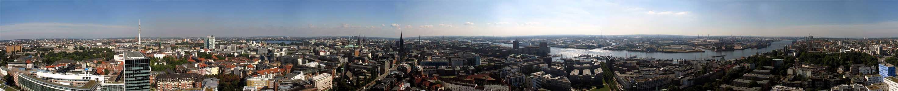 360°-Blick über Hamburg