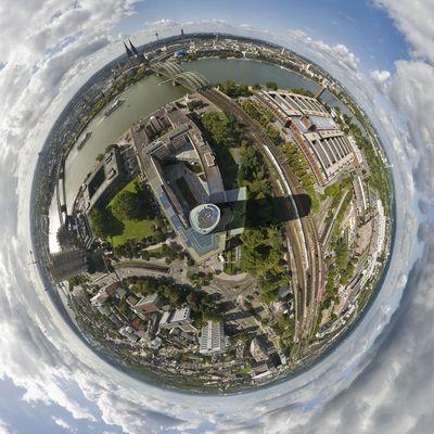 360º Blick vom Köln Triangel (Deutz)