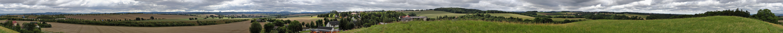 360 Grad exakt rund um meinen Garten in Köttewitz mit Blick zur Sächsischen Schweiz...