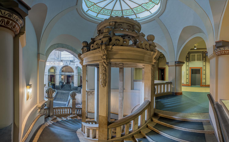 Treppen Hannover 3742q 45q neues rathaus hannover treppe innen panorama foto bild