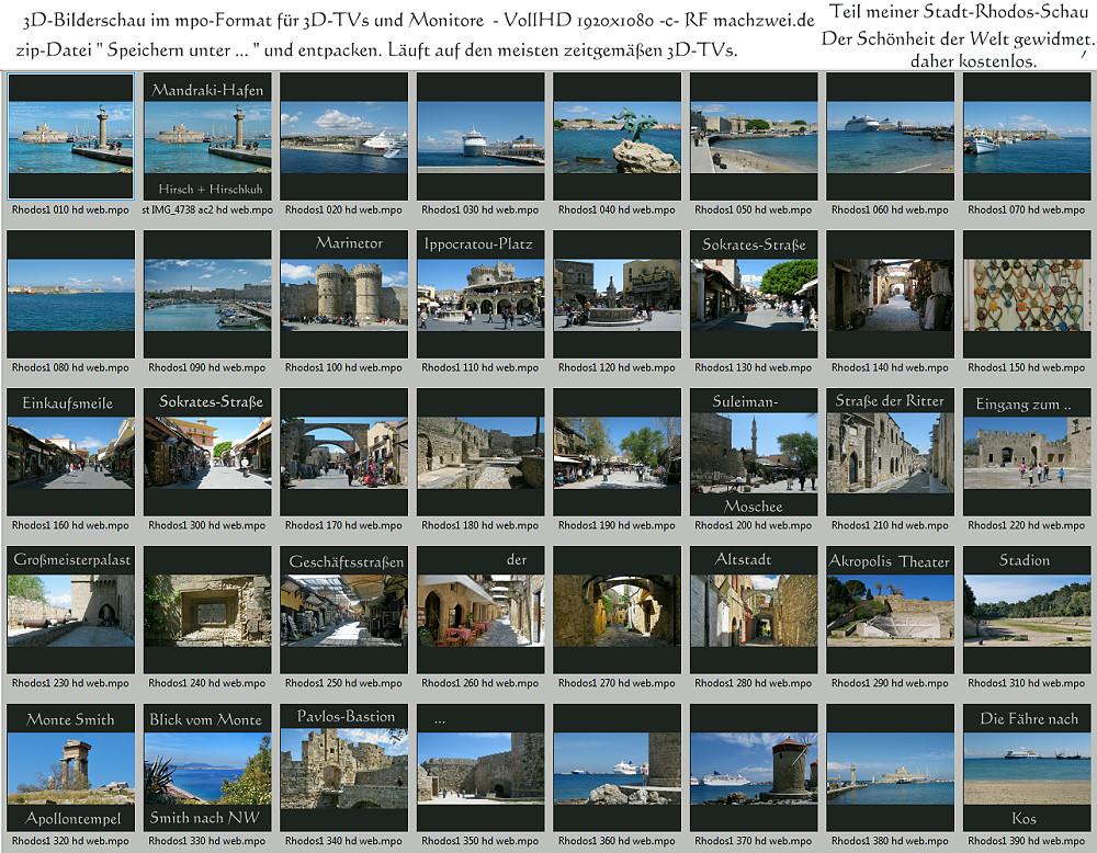 3D-Bilderschau in VollHD: Rhodos-Stadt und Monte Smith - mpo-Dateien für 3D-TV