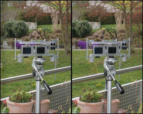 3D Gespann mit 2 Canon Ixus 70