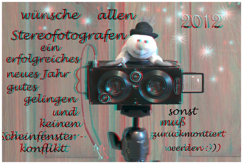 3D Glückwunschkarte zum neuen Jahr