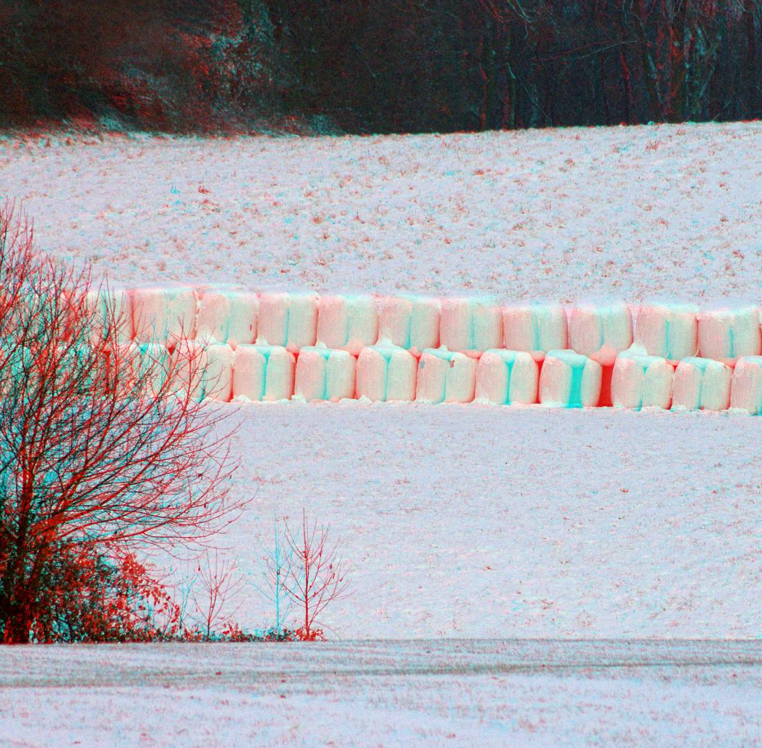 3D Monochrom in Weiß