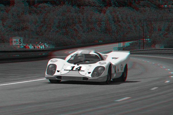 3D Porsche 917 in Le Mans