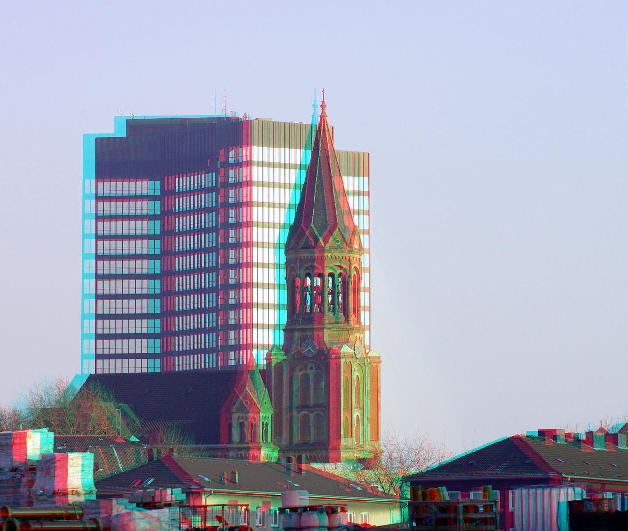 3D Rathaus in Essen ...