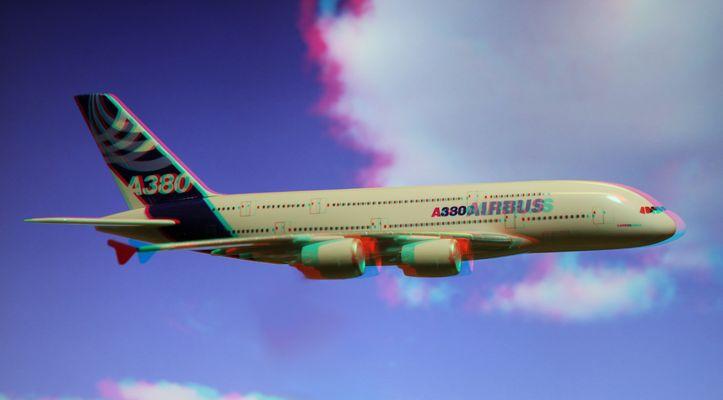 3D_Airbus A380 auf dem Rückflug