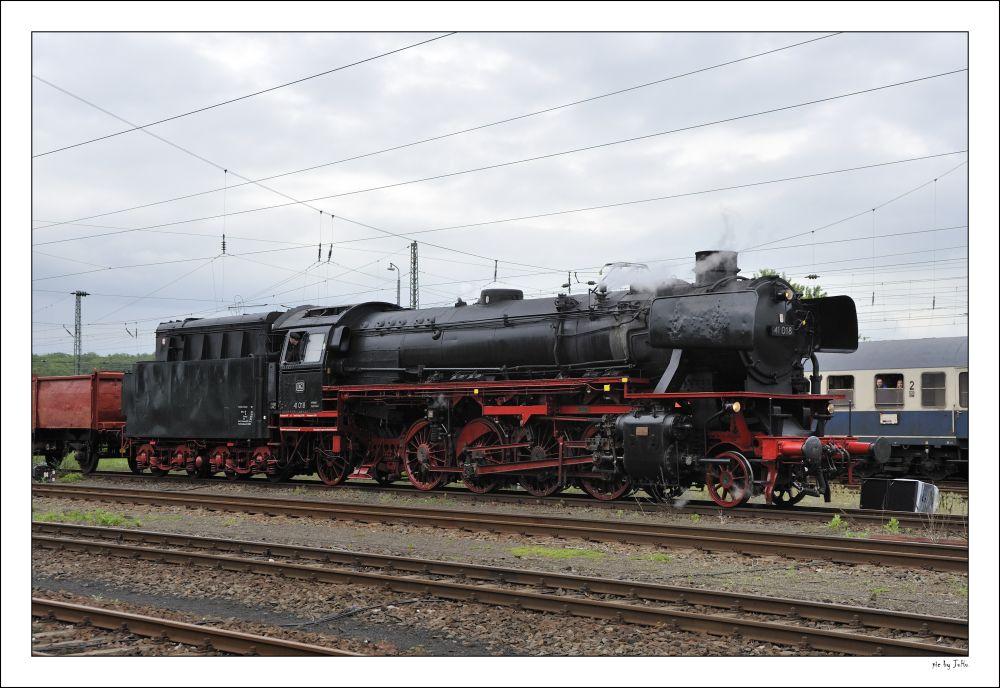 41 018 bei der Parade in Kranichstein
