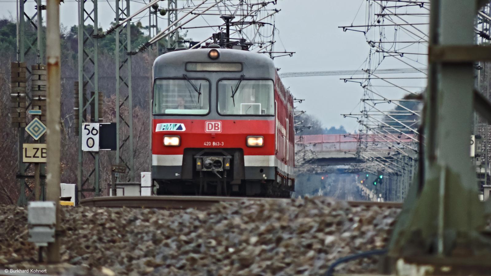 420 843-3 als S7 nach Riedstadt