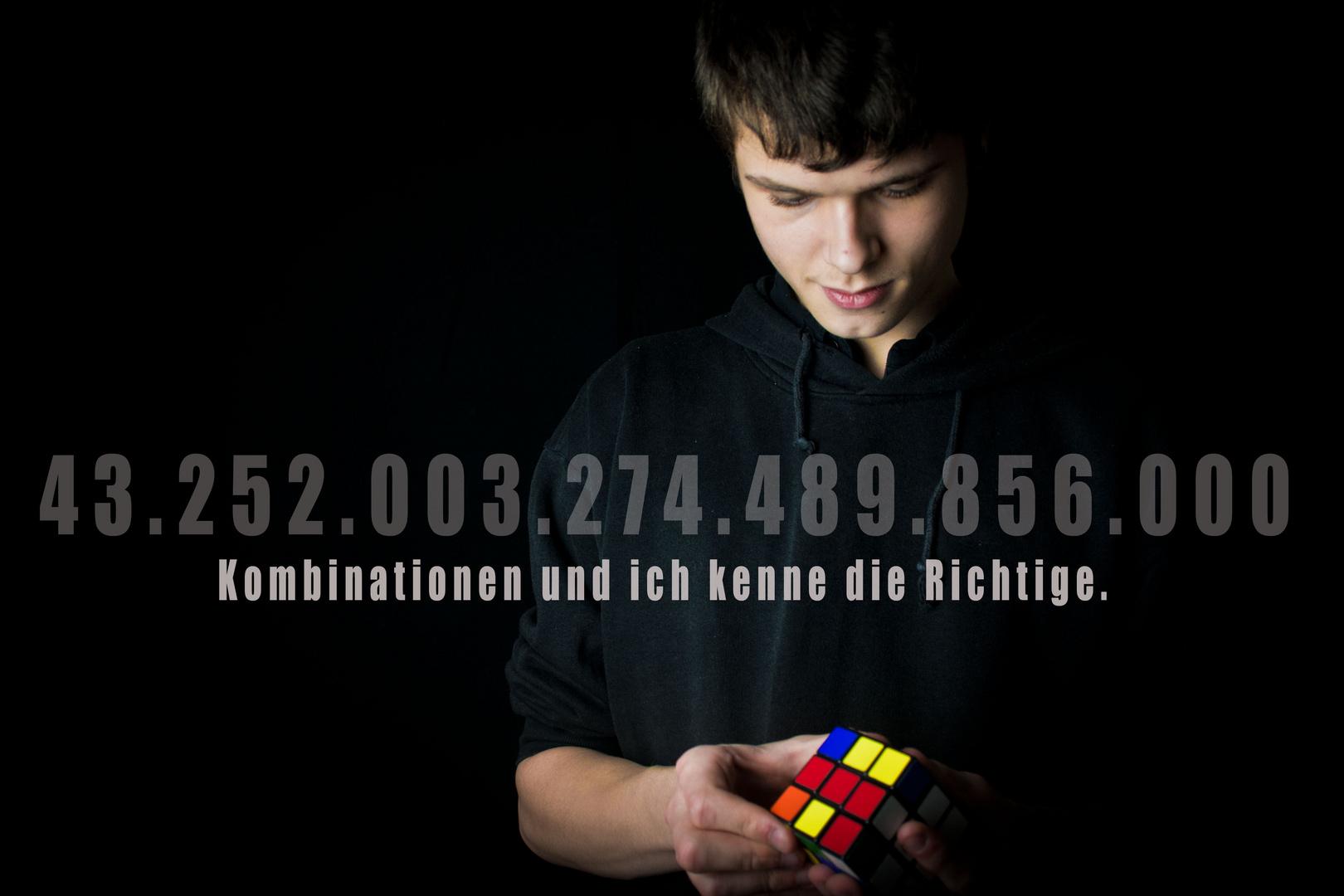43 Trillionen Möglichkeiten.