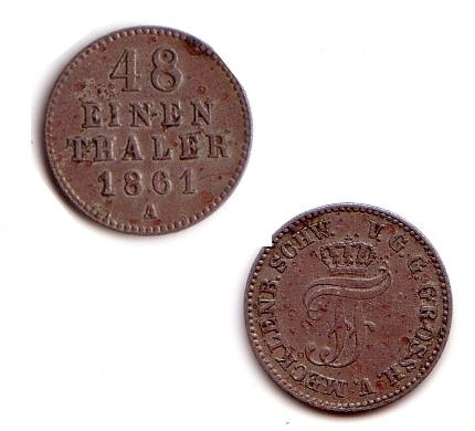 48 EIN -THALER 1861