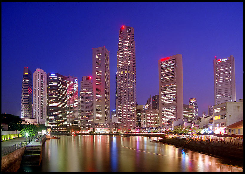 4.Tag Singapore: Abends am Boat Quay