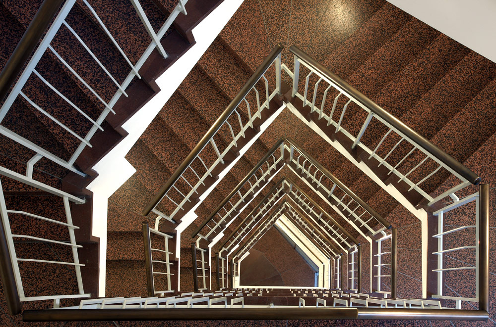 5-Eckiges Stiegenhaus von oben