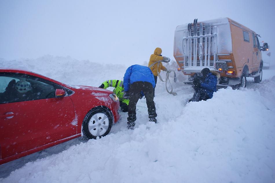 5 Kilometer vor dem Nordkapp - Unterwegs zum Nordkapp im Winter –