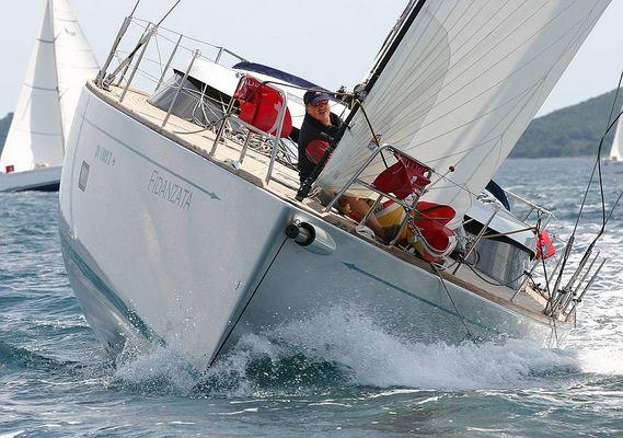 50 Fuß eine Shipman in Regattaaction