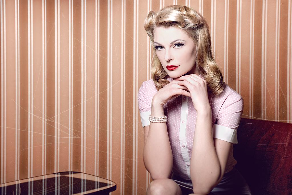 50er jahre fashion foto bild fashion make up. Black Bedroom Furniture Sets. Home Design Ideas