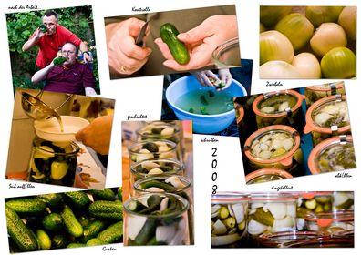 Collage:von Frucht zu Produkt