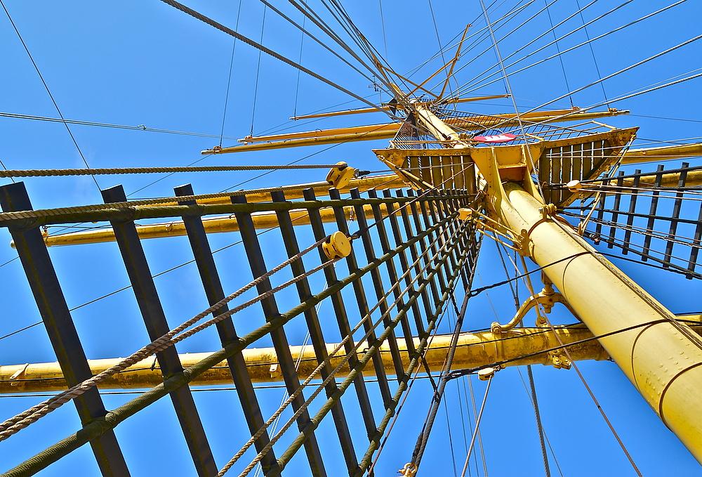 52 Meter Großtopp sind ganz schön hoch