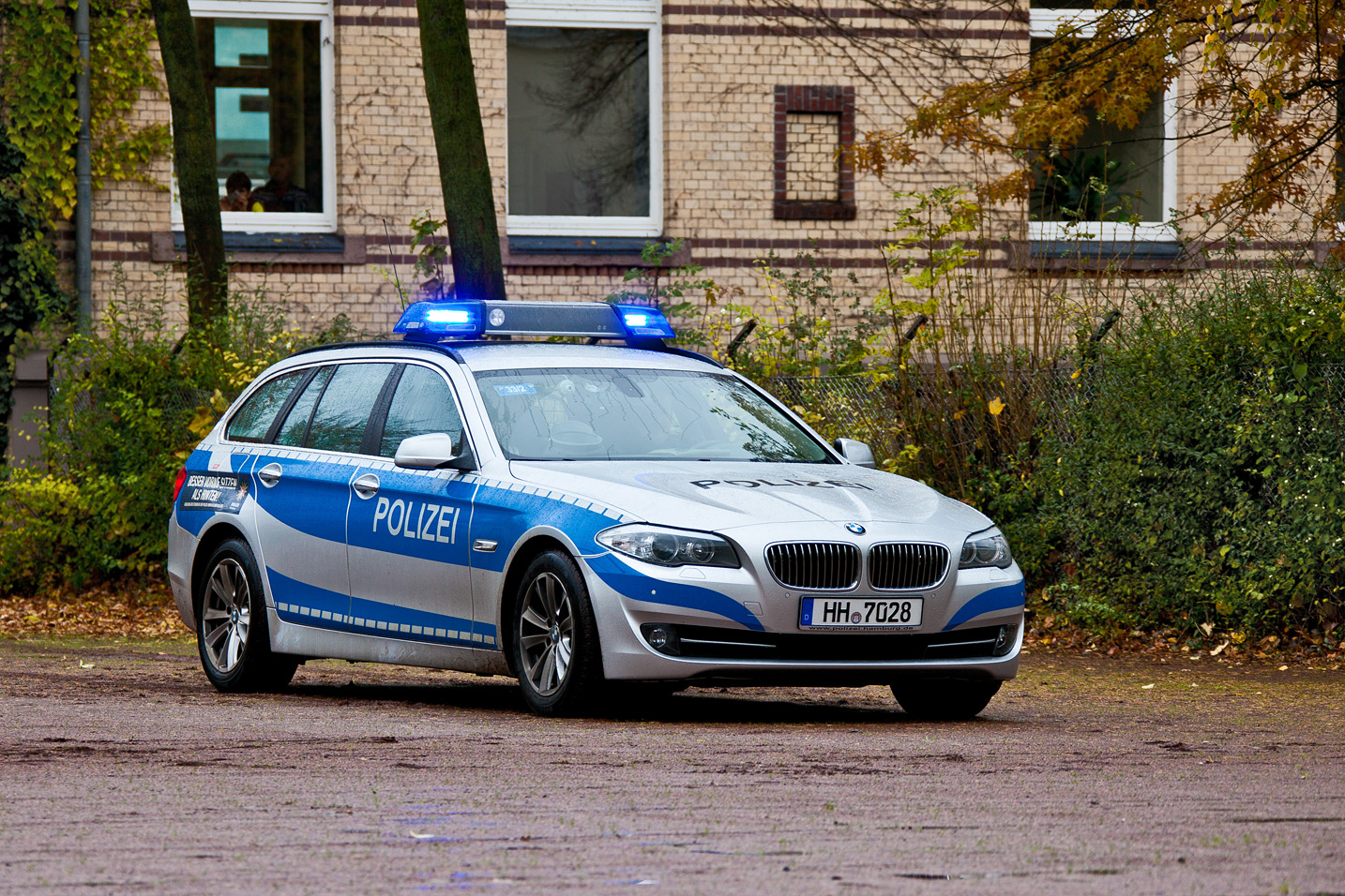 5er bmw der polizei hamburg zurzeit stationiert am pk33 foto bild autos zweir der. Black Bedroom Furniture Sets. Home Design Ideas