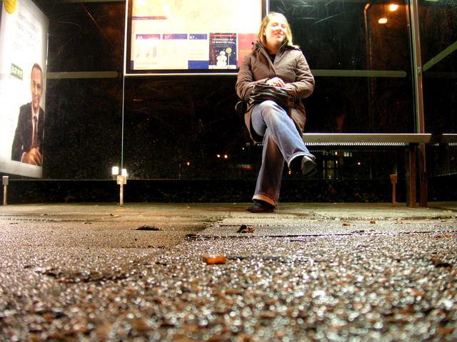 5sec bevor der Bus kam ;-)