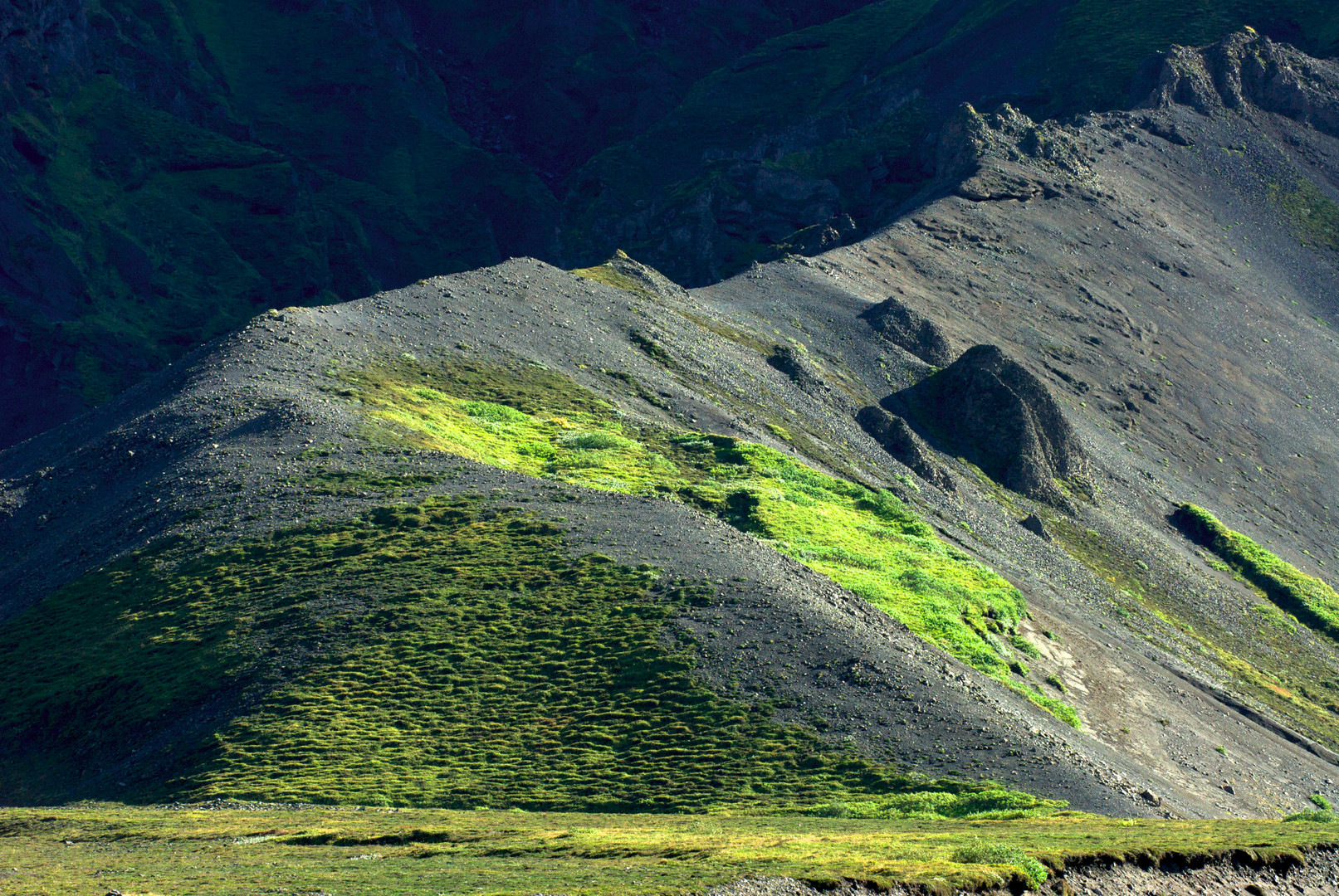 6 Monate nach dem Vulkanausbruch des Eyjafjallajökull, Island 2010