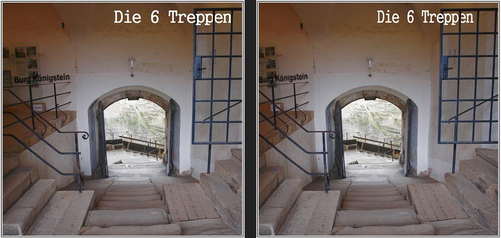 6 Treppen...
