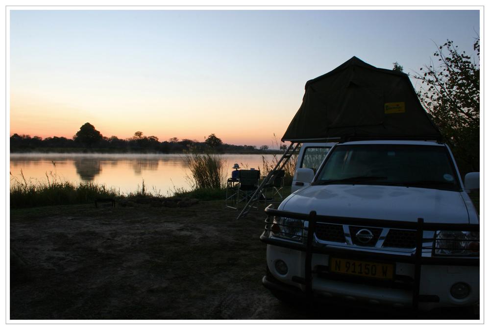 6.00 Uhr am Okavango